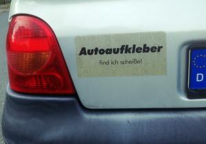 lustige Autoaufkleber Sammlung