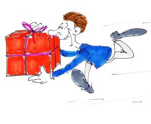 geschenk cartoon geschenkkarte gratis ausdrucken