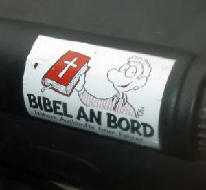 bibel an bord Aufkleber für das Auto