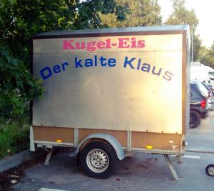 Eiswagen kalter Klaus lustiger Name