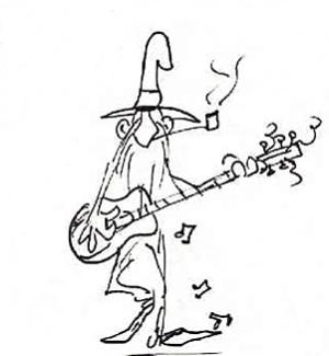 Musiker Figur ausdrucken lustig