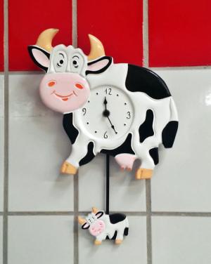 witzige Kuh Uhr