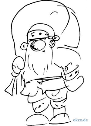 Weihnachtsmann Malvorlage auf der Witze Seite von OKZE
