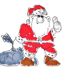 lustiger Weihnachtsmann für den Weihnachtswitz