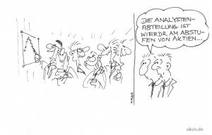 witziger cartoon zu aktien und börse