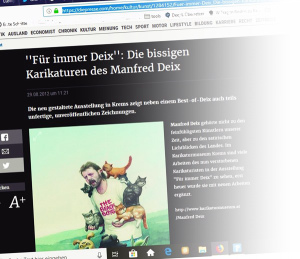 Titanic karikaturist Deix in Die Presse, Österreich